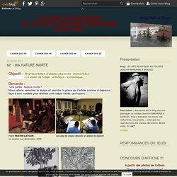 6e - MA NATURE MORTE - LES ARTS PLASTIQUES AU COLLEGE JOACHIM BARRANDE A SAUGUES