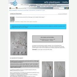 arts plastiques - InSitu - créatures blanches