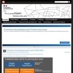 Arts plastiques / Histoire des arts – Site de l'académie de Bordeaux