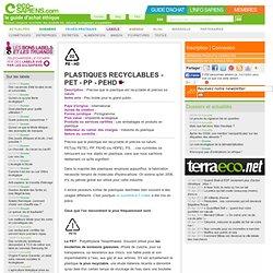 label Plastiques recyclables - PET - PP - PEHD - eco-sapiens