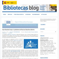 Open Education Europe : la plataforma de Recursos Educativos Abiertos