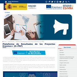 Plataforma de Resultados de los Proyectos Erasmus+ (E+PRP) - Comunicación