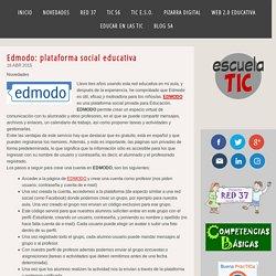 Edmodo: plataforma social educativa - ESCUELA TIC