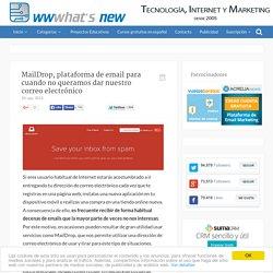 MailDrop, plataforma de email para cuando no queramos dar nuestro correo electrónico