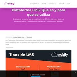 Plataforma LMS: Que es y para que se utiliza