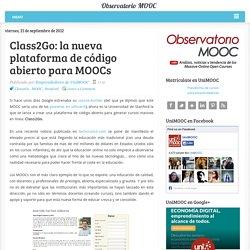Class2Go: la nueva plataforma de código abierto para MOOCs