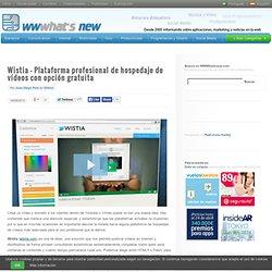 Wistia – Plataforma profesional de hospedaje de vídeos con opción gratuita