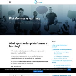PLATAFORMAS E LEARNING: aprendizaje online - GESTIONET