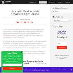 Plataformas de Crowdfunding en España
