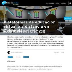 Plataformas de educación virtual o a distancia en Colombia