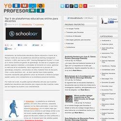 Top 5 de plataformas educativas online para docentes