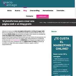 16 plataformas para crear una página web o un blog gratis