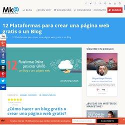 12 Plataformas para crear una página web gratis o un Blog □