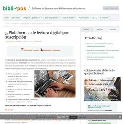 5 Plataformas de lectura digital por suscripción