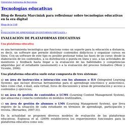 EVALUACIÓN DE PLATAFORMAS EDUCATIVAS « Tecnologías educativas