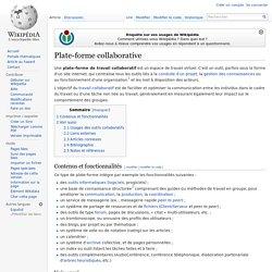 Plate-forme collaborative