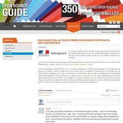 Data.gouv.fr, la plate-forme française d'open data, est open source