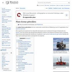 Plate-forme pétrolière