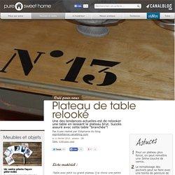 Plateau de table relooké