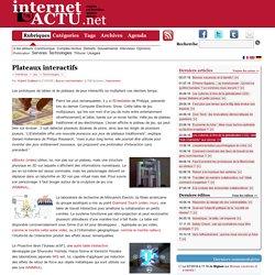Plateaux interactifs