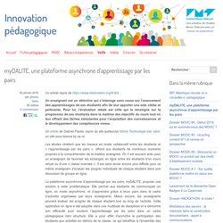 myDALITE, une plateforme asynchrone d'apprentissage par les pairs