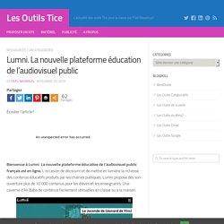 Lumni. La nouvelle plateforme éducation de l'audiovisuel public