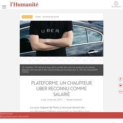 Plateforme. Un chauffeur Uber reconnu comme salarié