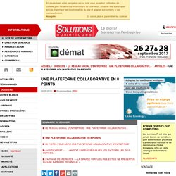 Une plateforme collaborative en 8 points