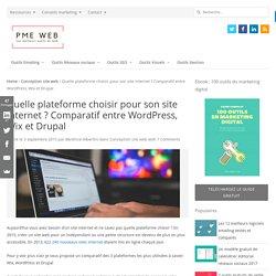 Quelle plateforme choisir pour son site internet ? Comparatif entre Wordpress, Drupal et Wix
