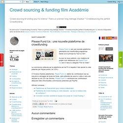 une nouvelle plateforme de crowdfunding