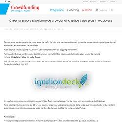 Créer sa propre plateforme de crowdfunding grâce à des plug in wordpress » Crowdfunding