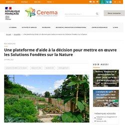 Une plateforme d'aide à la décision pour mettre en œuvre les Solutions Fondées sur la Nature