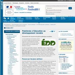 Plateforme d'éducation au développement durable — Enseigner avec le numérique