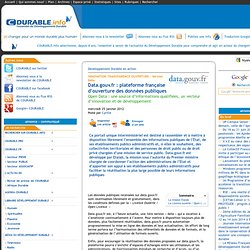 Data.gouv.fr : plateforme française d'ouverture des données publiques