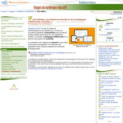 Une tablette, une plateforme Moodle et de la pédagogie (différenciée, inversée...)- Usages du numérique éducatif
