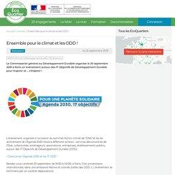 Ensemble pour le climat et les ODD ! - Ensemble pour le climat et les ODD ! - Plateforme ÉcoQuartier