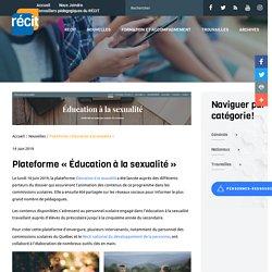 Plateforme « Éducation à la sexualité » - Récit
