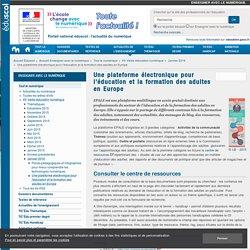 Une plateforme électronique pour l'éducation et la formation des adultes en Europe — Enseigner avec le numérique