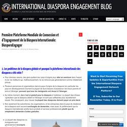 Plateforme Mondiale des Diasporas: Connexion et Engagement