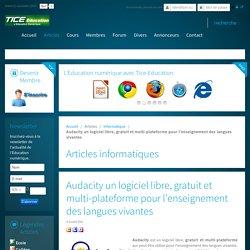 Audacity un logiciel libre, gratuit et multi-plateforme pour l'enseignement des langues vivantes
