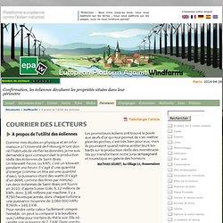 EPAW - Plateforme européenne contre l'éolien industriel