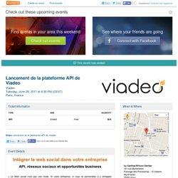Lancement de la plateforme API de Viadeo - Eventbrite
