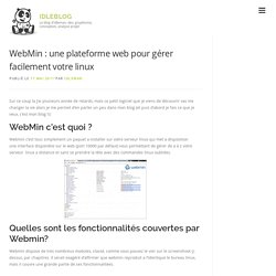 WebMin : une plateforme web pour gérer facilement votre linux
