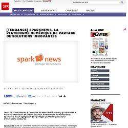 Sparknews, la plateforme numérique de partage de solutions innovantes