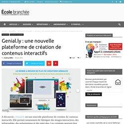 Genial.ly : une nouvelle plateforme de création de contenus interactifs - École branchée