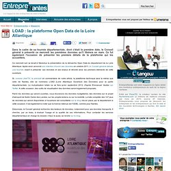 LOAD : la plateforme Open Data de la Loire Atlantique