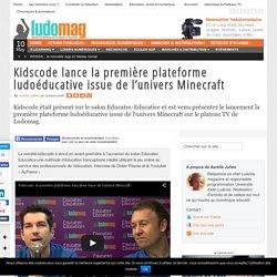 Kidscode lance la première plateforme ludoéducative issue de l'univers Minecraft