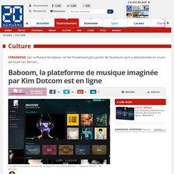 Baboom, la plateforme de musique imaginée par Kim Dotcom est en ligne