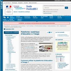 Plateforme numérique d'éducation à l'image — #Ersilia #EMI