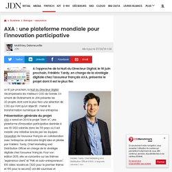 AXA : une plateforme mondiale pour l'innovation participative